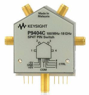 P9404C PIN Solid State Switch, 100 MHz to 18 GHz, SP4T  RF and Microwave Test Accessories  Keysight Technologies
