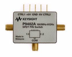 P9402A PIN Solid State Switch, 100 MHz to 8 GHz, SPDT  RF and Microwave Test Accessories  Keysight Technologies
