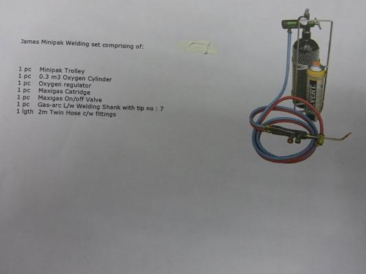 James Minipak Welding Set