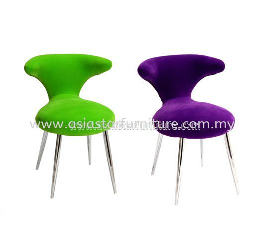 CAFETERIA FABRIC SEAT WITH CHROME LEG AS G111 - Serdang   Connaught   Sunway Cheras