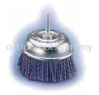 Abrasive Nylon Cup Brushes with Shank (GIC)