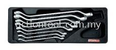 45 Offset Double Ring Wrench Set Master Tool Sets TOPTUL Hand Tool