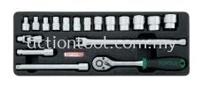 "3/8"" DR. Flank Socket Set Master Tool Sets TOPTUL Hand Tool"