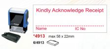 4913 (RM38.00) Self Inked Stamps