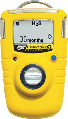 BW GasAlertClip Extreme 3-Year Single Gas Detector