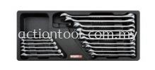 15 Offset Pro-Line Combination Wrench Set  Master Tool Sets TOPTUL Hand Tool