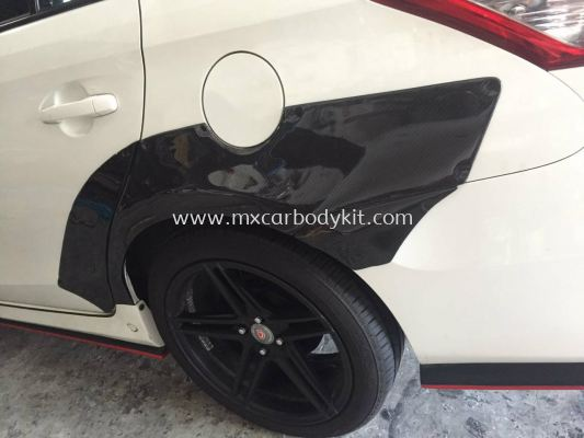 TOYOTA VIOS 2013 ROCKET BUNNY WIDE BODY REAR FENDER CARBON FIBRE