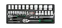 "1/4"" & 1/2"" DR. Flank Socket Set  Master Tool Sets TOPTUL Hand Tool"