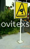 CCTV warning sign n general information Sign stand Signage to Show your Property are in top security controlled Outdoor Advertising Outdoor Sign Board 3D