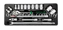 "1/2"" DR. Flank Socket Set Master Tool Sets TOPTUL Hand Tool"