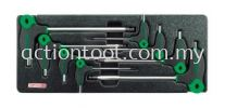 L-Type Two Way Ball Point & Hex Key Wrench Set Master Tool Sets TOPTUL Hand Tool