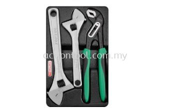 Adjustable Wrench & Pliers Set