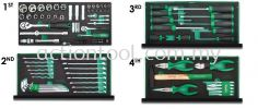 Professional Mechanical Tool Set W/3-Drawer Tool Chest (114pcs) Master Tool Sets TOPTUL Hand Tool