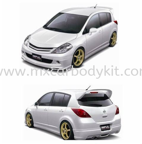 NISSAN LATIO HATCHBACK 2012 IMPUL BODY KIT + SPOILER LATIO HATHBACK 2012 (NON-FACELIFT) NISSAN