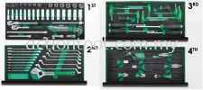 Professional Mechanical Tool Set W/3-Drawer Tool Chest (82pcs) Master Tool Sets TOPTUL Hand Tool