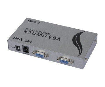 2-IN, 2-OUT VGA SWITCHER & SPLITTER