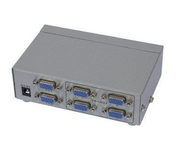 2-IN, 4-OUT VGA SWITCHER & SPLITTER
