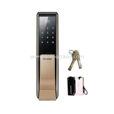 Samsung EZON SHS-P810 Keyless Digital Keypad EntryDoorLock Push & Pull Door lock with English ...