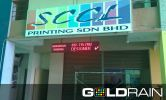 Mono Color LED Display Broad Sample - Johor Finished Sample