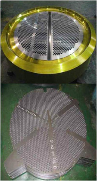 Tube Sheet, Baffle Plate and Support Plate