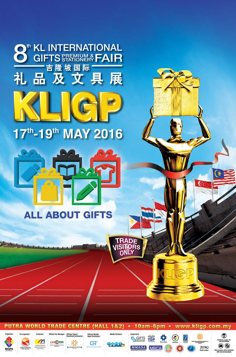 The 8th KL International Gifts, Premium & Stationery 2016 Fair (KLIGP) May 2016 Year 2016 Past Listing