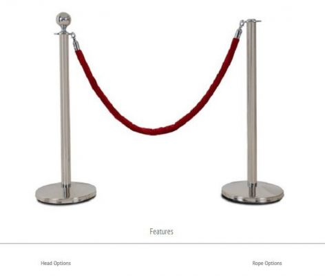 QP22+QR15 Classic Q - Up Stand With Velvet Rope