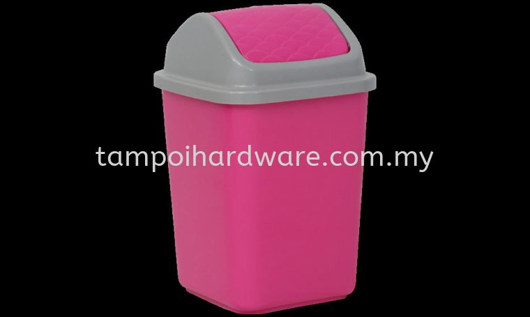 Swing Dustbin 1014# 18L x 18W x 29H cm Rubbish Pail Hygiene and Cleaning Tools