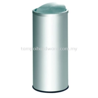 Stainless Steel Litter Bin complete with Flip Top   FT031SS
