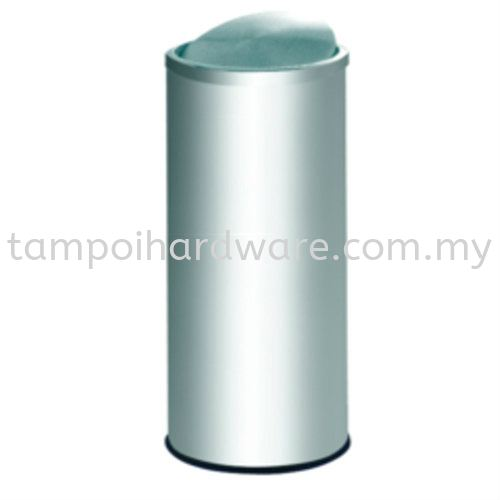 Stainless Steel Litter Bin complete with Flip Top   FT031SS Stainless Steel Rubbish Bin Hygiene and Cleaning Tools