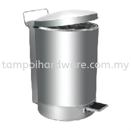 Stainless Steel Litter Bin complete with Pedal  RPD-080SS  32liter Stainless Steel Rubbish Bin Hygiene and Cleaning Tools