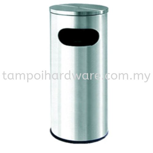 Stainless Steel Litter Bin complete with Flat Top   RAB001F Stainless Steel Rubbish Bin Hygiene and Cleaning Tools