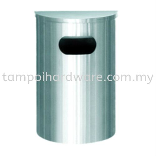Stainless Steel Semi Round Bin complete with Flat Top SRB-039SS Stainless Steel Rubbish Bin Hygiene and Cleaning Tools Johor Bahru (JB), Malaysia, Tampoi Supplier, Suppliers, Supply, Supplies | Tampoi Hardware Sdn Bhd