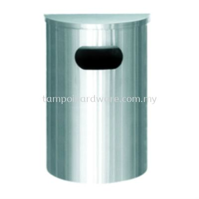 Stainless Steel Semi Round Bin complete with Flat Top  SRB-039SS