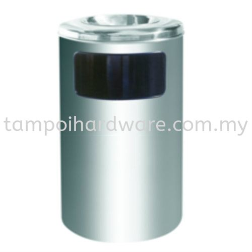 RAB040SSStainless Steel Litter Bin complete with Ashtray Top Stainless Steel Rubbish Bin Hygiene and Cleaning Tools