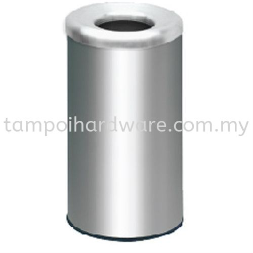 Stainless Steel Litter Bin complete with Open Top  RAB-072SS Stainless Steel Rubbish Bin Hygiene and Cleaning Tools
