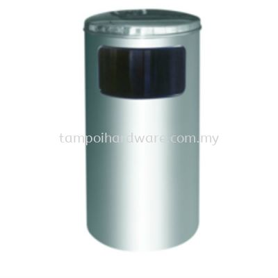 Stainless Steel Litter Bin complete with Flat Top   RAB041SS