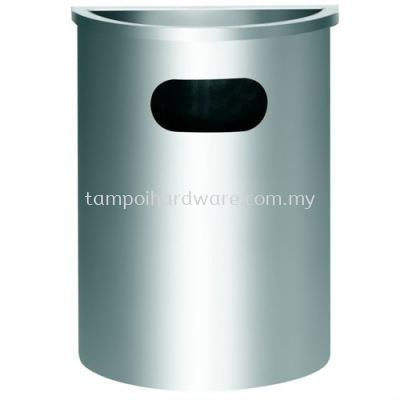 Stainless Steel Semi Round Bin complete with  Ashtray Top  SBR-038SS