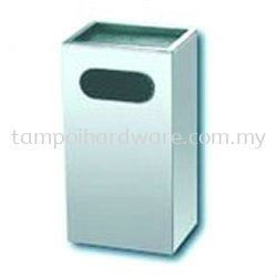 Stainless Steel Rectangular Ashtray Bin   RAS-053SS