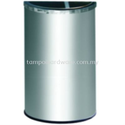 Stainless Steel Semi Round Bin complete with 1_3 Ashtray 2_3 Open Top   SRB054SS