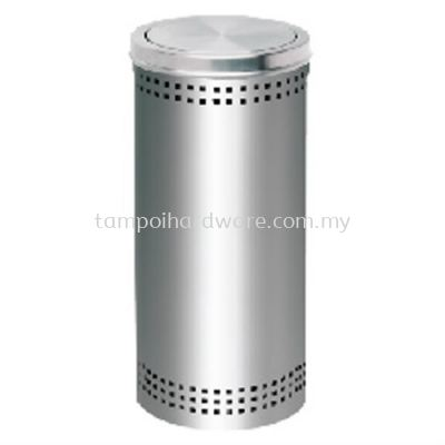 Stainless Steel Litter Bin complete with Flip Top   RFT061SS