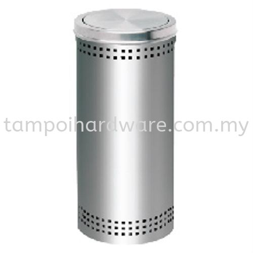 Stainless Steel Litter Bin complete with Flip Top   RFT061SS Stainless Steel Rubbish Bin Hygiene and Cleaning Tools