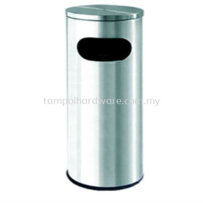 Stainless Steel Litter Bin complete with Flat Top   RAB002F
