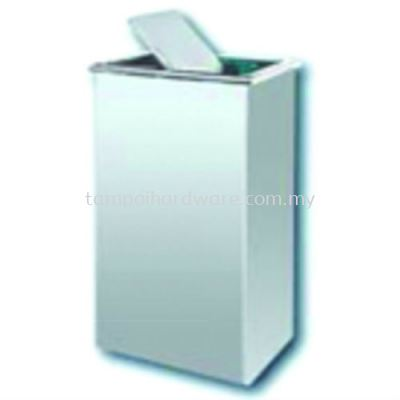 Stainless Steel Rectangular Flip Top Bin   RFT-018SS