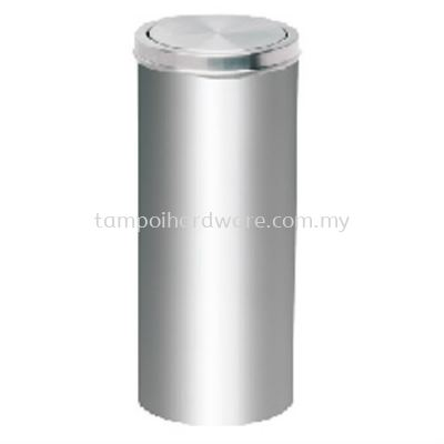 Stainless Steel Litter Bin complete with Flip Top   RFT064SS