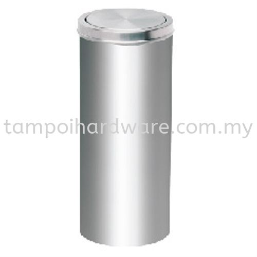 Stainless Steel Litter Bin complete with Flip Top   RFT064SS Stainless Steel Rubbish Bin Hygiene and Cleaning Tools
