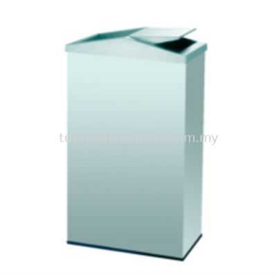 Stainless Steel Rectangular Flip Top Bin  RFT-056SS