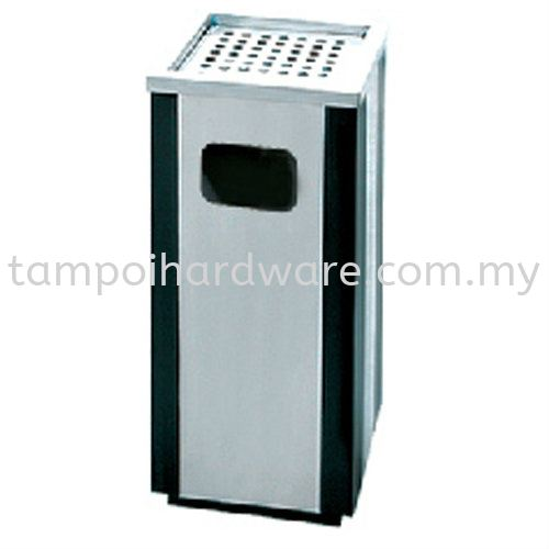 Stainless Steel + Epoxy Square Ashtray Bin Stainless Steel Rubbish Bin Hygiene and Cleaning Tools