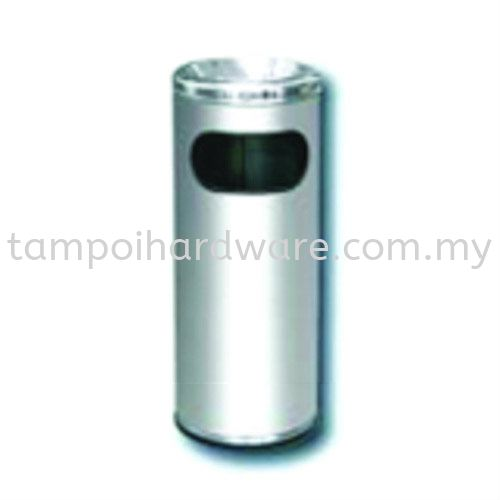 RAB027Stainless Steel Litter Bin complete with Ashtray Top Stainless Steel Rubbish Bin Hygiene and Cleaning Tools