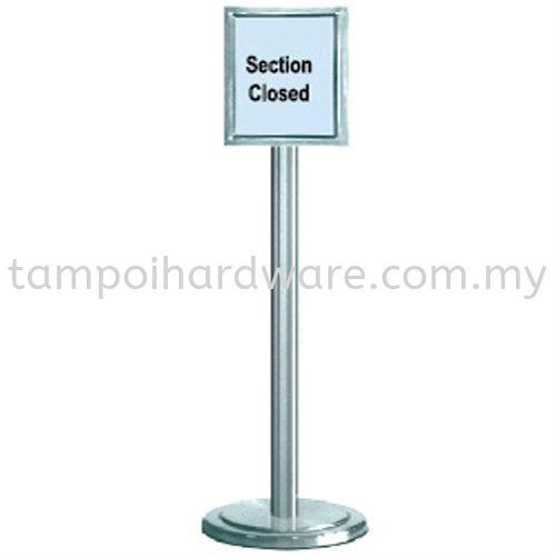 STAINLESS STEEL SIGN BOARD STAND Q-Up Stand Hygiene and Cleaning Tools