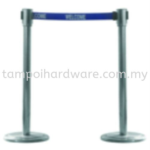 Stainless Steel Self Retractable Belt Q-Up Stand Q-Up Stand Hygiene and Cleaning Tools